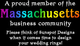 Sunspot Designs congratulates all of the gay and lesbian couples who are looking forward to being legally married!  Please consider us when it comes time to design your wedding bands.