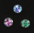 Sterling Colored CZ Stud Earring