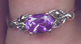 Sterling Amethyst and Marcasite Ring