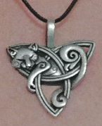 Celtic Barn Owl Necklace